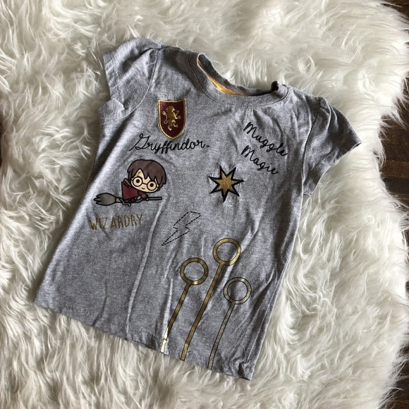 Harry Potter Other - Harry Potter Girls 4T Tee T Shirt Gray Gryffindor